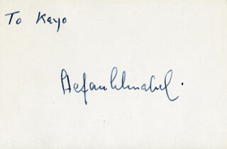 STEFAN SCHNABEL - INSCRIBED SIGNATURE