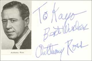 ANTHONY ROSS - INSCRIBED SIGNATURE