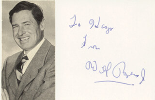 WILL ROGERS JR. - INSCRIBED SIGNATURE