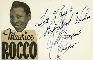 MAURICE ROCCO - AUTOGRAPH NOTE SIGNED