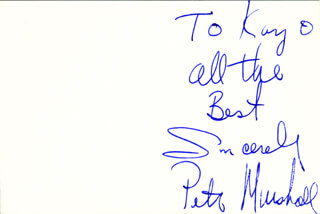 PETER MARSHALL - AUTOGRAPH NOTE SIGNED