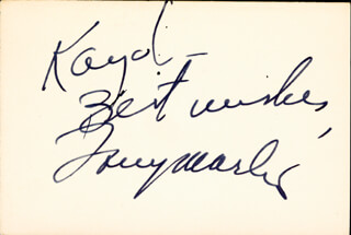 TONY MARTIN - AUTOGRAPH NOTE SIGNED