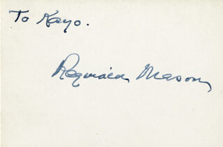 REGINALD MASON - INSCRIBED SIGNATURE