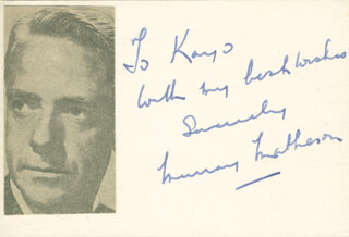 MURRAY MATHESON - INSCRIBED SIGNATURE