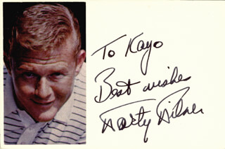 MARTIN MILNER - AUTOGRAPH NOTE SIGNED