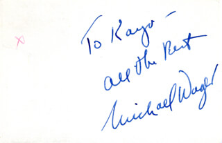 MICHAEL WAGER - AUTOGRAPH NOTE SIGNED