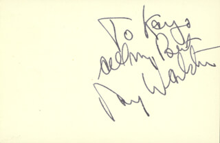 RAY WALSTON - AUTOGRAPH NOTE SIGNED