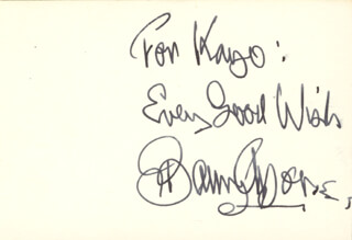 BARRY MORSE - AUTOGRAPH NOTE SIGNED