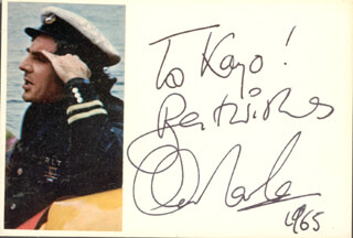 ANTHONY NEWLEY - AUTOGRAPH NOTE SIGNED 1965