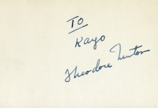 THEODORE NEWTON - INSCRIBED CARD SIGNED