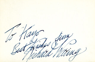 RICHARD WARING - AUTOGRAPH NOTE SIGNED