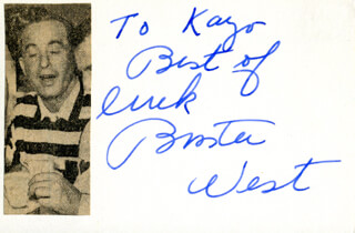 BUSTER WEST - AUTOGRAPH NOTE SIGNED