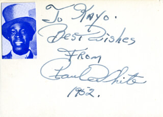 Autographs: PAUL WHITE - AUTOGRAPH NOTE SIGNED 1952