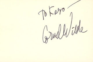 CORNEL WILDE - INSCRIBED CARD SIGNED