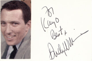 ANDY WILLIAMS - INSCRIBED SIGNATURE