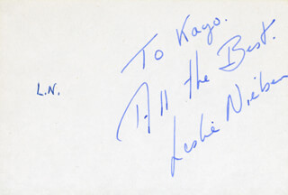 LESLIE NIELSEN - INSCRIBED SIGNATURE
