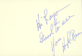 HUGH O'BRIAN - INSCRIBED SIGNATURE