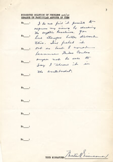 MILTON S. EISENHOWER - AUTOGRAPH DOCUMENT SIGNED