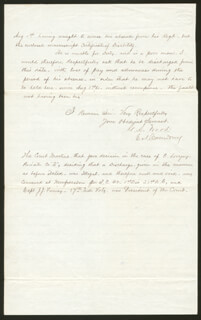 COLONEL GUSTAVUS AUGUSTUS WOOD - MANUSCRIPT LETTER SIGNED 10/13/1861