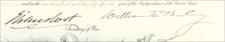 Autographs: PRESIDENT WILLIAM McKINLEY - MILITARY APPOINTMENT SIGNED 01/11/1900 CO-SIGNED BY: LT. GENERAL HENRY C. CORBIN, ELIHU ROOT