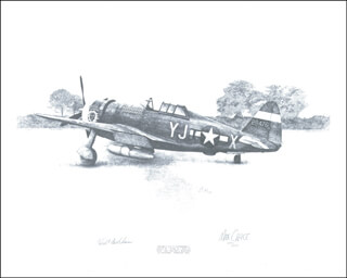 Autographs: MAJOR WALTER C. BECKHAM - ILLUSTRATION SIGNED CO-SIGNED BY: MAX CRACE