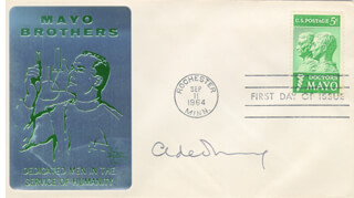 CHRISTIAN DE DUVE - FIRST DAY COVER SIGNED