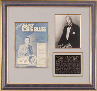 Autographs: W.C. HANDY - INSCRIBED SHEET MUSIC SIGNED 1932