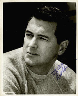 ROCK HUDSON - AUTOGRAPHED INSCRIBED PHOTOGRAPH