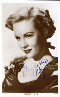 VIRGINIA MAYO - PRINTED PHOTOGRAPH SIGNED IN INK