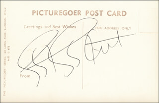 EARTHA KITT - PICTURE POST CARD SIGNED