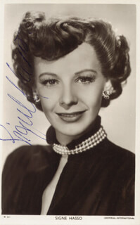SIGNE HASSO - AUTOGRAPHED SIGNED PHOTOGRAPH