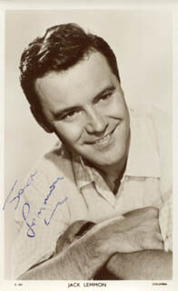 JACK LEMMON - PICTURE POST CARD SIGNED