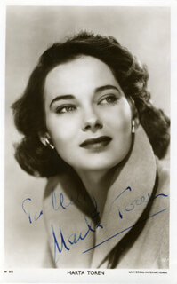 MARTA TOREN - AUTOGRAPHED INSCRIBED PHOTOGRAPH