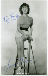 LANA MORRIS - INSCRIBED PICTURE POSTCARD SIGNED