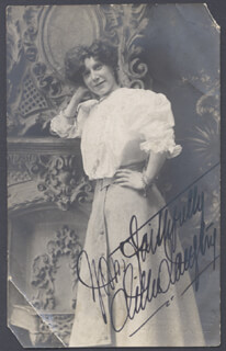 LILLIE AMERICAN LILY LANGTRY - PICTURE POST CARD SIGNED