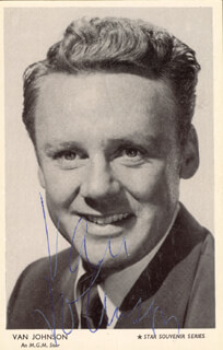 VAN JOHNSON - PICTURE POST CARD SIGNED