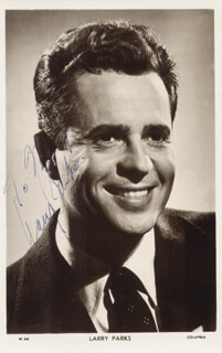 LARRY PARKS - AUTOGRAPHED INSCRIBED PHOTOGRAPH