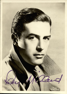 RAY MILLAND - AUTOGRAPHED SIGNED PHOTOGRAPH