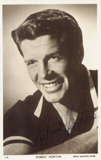ROBERT HORTON - PRINTED PHOTOGRAPH SIGNED IN INK