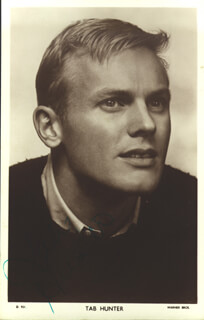 TAB HUNTER - PICTURE POST CARD SIGNED
