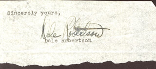 DALE ROBERTSON - TYPED SENTIMENT SIGNED