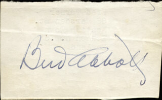 Autographs: ABBOTT & COSTELLO (BUD ABBOTT) - SIGNATURE(S)
