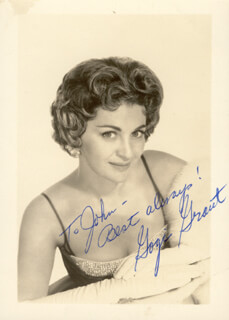 GOGI GRANT - AUTOGRAPHED INSCRIBED PHOTOGRAPH