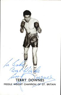 TERRY DOWNES - AUTOGRAPHED SIGNED PHOTOGRAPH