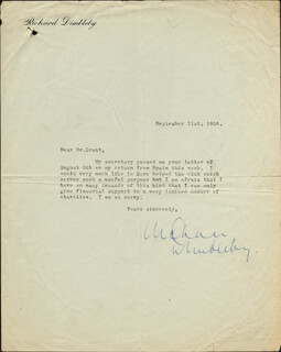 RICHARD DIMBLEBY - TYPED LETTER SIGNED 09/21/1956