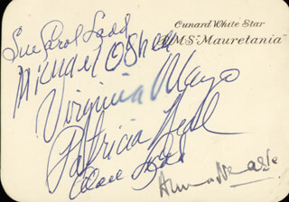 ALAN LADD - AUTOGRAPH CO-SIGNED BY: PATRICIA NEAL, SUE CAROL LADD, VIRGINIA MAYO, ANNA NEAGLE, MICHAEL O'SHEA