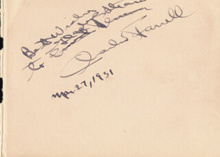 CHARLES FARRELL - AUTOGRAPH NOTE SIGNED 03/27/1931