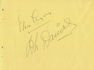 BEN LYON - AUTOGRAPH CO-SIGNED BY: BEBE DANIELS