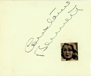 CONSTANCE BENNETT - AUTOGRAPH CO-SIGNED BY: MAX WALL