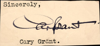CARY GRANT - AUTOGRAPH